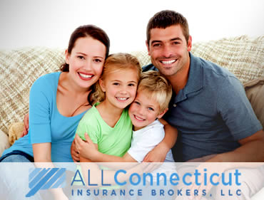 Happy Connecticut family covered by Insurance